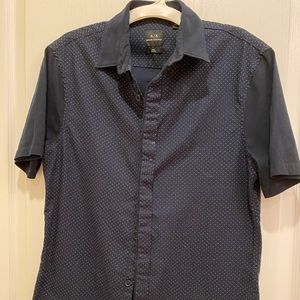 Men's Armani Exchange button down polo